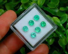 Muzo 1.74Ct 6Pcs Natural Colombian Green Color Muzo Emerald ST705