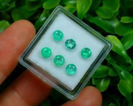 Muzo 1.67Ct 6Pcs Natural Colombian Green Color Muzo Emerald ST706