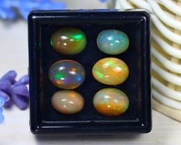 Welo Opal 7.04Ct Natural Ethiopian Rainbow Flash Welo Opal Lot ST714