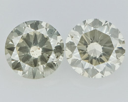 0.34cts , Round Brilliant Cut Diamonds