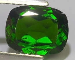 2.30 CTS EXCELLENT RARE CUSHION NATURAL TOP GREEN- CHROME DIOPSIDE~