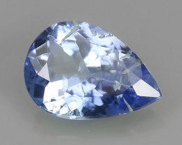 0.60  CTS AWESOME NICE NATURAL TANZANITE FACET GEM PEAR SHAPE