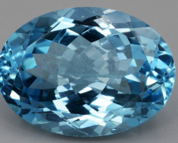 AAA  Natural Blue  Topaz  15.95 Cts Top Quality