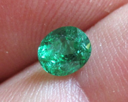 0.43cts Natural Emerald  Oval Mixed Step Cut