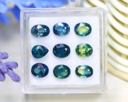 Sapphire 5.85Ct VS2 9Pcs Natural Australian Parti Sapphire A2111