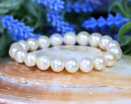 10.0mm 130Ct Australian South Sea Creamy White Bracelet A2119