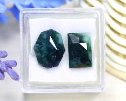 Jadeite Jade 10.49Ct 2Pcs Master Cut Natural Burmese Jadeite Jade A2135