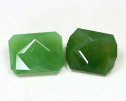Nephrite 7.62Ct Master Cut Natural Onot River Green Nephrite Jade ST796