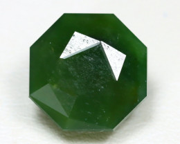 Nephrite 7.73Ct Master Cut Natural Onot River Green Nephrite Jade ST799