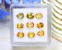 Sapphire 3.98Ct VS2 9Pcs Natural Padparadscha Color Sapphire C2105