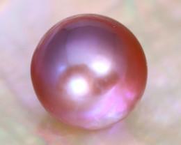 12.2mm 12.77Ct Natural Tahitian Purple Black Pearl C2114