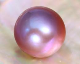 12.5mm 13.76Ct Natural Tahitian Purple Black Pearl C2120