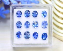 Sapphire 4.30Ct VS2 12Pcs Natural Madagascar Blue Sapphire C2121