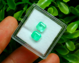 Muzo 1.78Ct Natural Colombian Vivid Green Color Muzo Emerald C2130