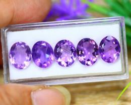 13.77Ct Natural Purple Amethyst Oval Cut Lot LZ9179