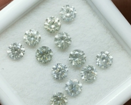 1.87cts , Beautiful Clean Round Brilliant Cut Diamonds