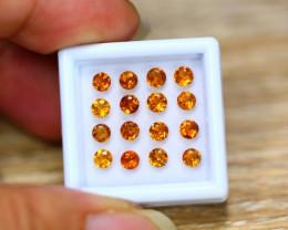 3.66ct Natural Hessonite Garnet Round Cut Lot B4181