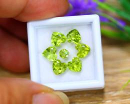 5.36ct Natural Green Peridot Heart Cut Lot B4183