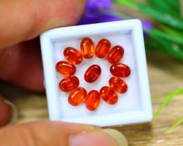 7.62Ct Natural Orange Kyanite Oval Cut Lot B4203