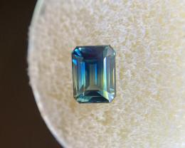 GIA CERTIFIED 1.79ct Bi Colour Sapphire Blue Yellow UNTREATED Emerald Cut G