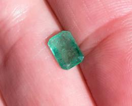 1.06 Polished Natural Brazilian emerald –  Emerald Cut