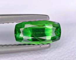 Certified 1.30 Carat Demantoid Garnet Very Top Green Cut Gemstone