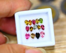 2.65ct Natural Fancy Color Tourmaline Pear Cut Lot B4163