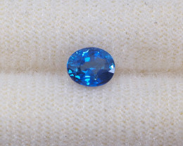 0.97ct unheated vivid blue sapphire