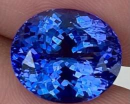 8.70 CT 13X11mm $4500 Royal Blue Natural Unheated D-Block Blue Tanzanite TN