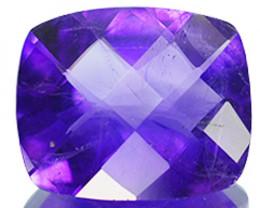 3.95 Cts Natural Nice Purple Amethyst 12x10mm Cushion Cut Bolivia