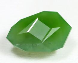 Nephrite 4.42Ct Master Cut Natural Onot River Green Nephrite Jade B2210