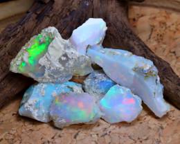 Welo Opal Rough 56.00Ct Natural Ethiopian Flash Color Rough Opal B2220