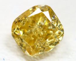 Yellow Diamond 0.29Ct Untreated Genuine Fancy Diamond B2226