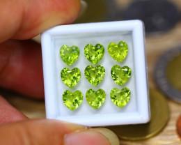 7.72Ct Natural Green Peridot Heart Cut Lot GW9305