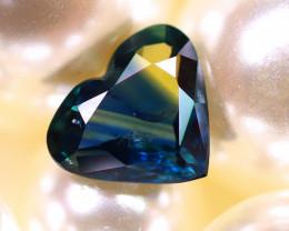 Unheated Sapphire 0.82Ct Natural  Heart Shape Blue Sapphire E2508/B9