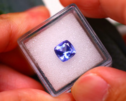 Tanzanite 2.10Ct Natural VVS Purplish Blue Tanzanite E2519/A45