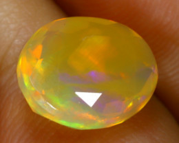 Welo Opal 1.37Ct Natural Ethiopian Faceted Play of Color Opal E2529/A44