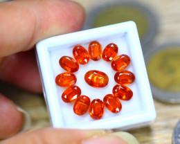 9.24ct Natural Orange Kyanite Oval Cut Lot V8132