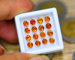 4.82ct Natural Hessonite Garnet Round Cut Lot V8137