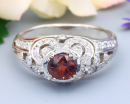 Spinel 0.80Ct VS Natural Burmese Spinel Silver Ring R24