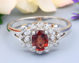 Spinel 0.77Ct VS Natural Burmese Spinel Silver Ring R27