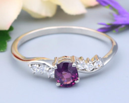 Spinel 0.45Ct VS Natural Burmese Spinel Silver Ring R07