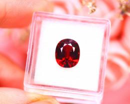 Almandine 5.11Ct Natural Vivid Blood Red Almandine Garnet D2614/A5