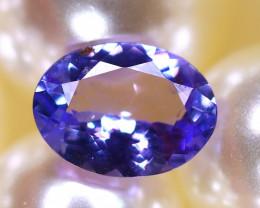 Tanzanite 1.24Ct Natural VVS Purplish Blue Tanzanite D2618/A45