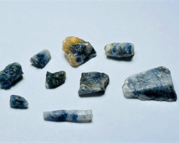 Amazing Natural color gemmy quality blue Sapphire crystals Rough50CtsS-18