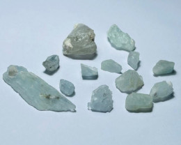Amazing Natural color gemmy quality rough Aquamarine lot 100GNA/5