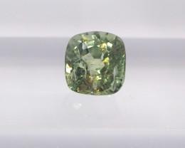 1.05ct unheated light greenish yellow sapphire