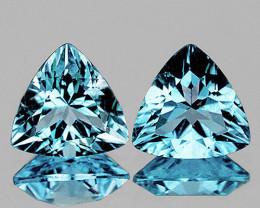 8.00 mm Trillion 2 pcs 4.14cts Sky Blue Topaz [VVS]