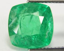 5.45Cts Genuine Amazing Ethiopian Emerald  Cushion Cut Loose Gemstone