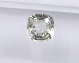 1.35ct unheated white sapphire